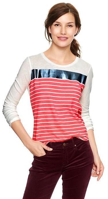 Gap Metallic stripe T