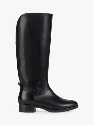 Geox Women's Felicity Leather Walking Boots, Black