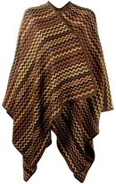 Missoni zig zag jacquard cape - women - Wool - One Size