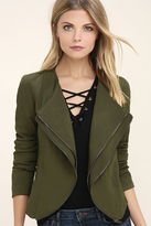 Lush The Last Word Olive Green Jacket