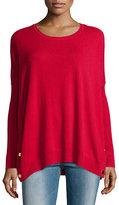 Joan Vass Long-Sleeve Wool-Cashmere Tunic, Plus Size