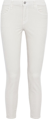 J Brand Alana Cropped Cotton-blend Corduroy Skinny Pants