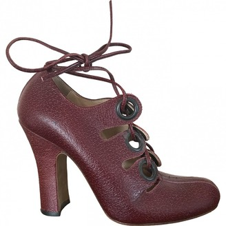 Vivienne Westwood Burgundy Leather Heels