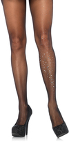 Leg Avenue Black Sheer Rhinestone Pantyhose
