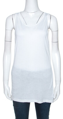 M Missoni White Jersey Sleeveless Tank Top M