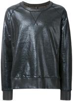 Miharayasuhiro coated crew neck sweatshirt