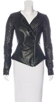 Willow Leather Asymmetrical Jacket