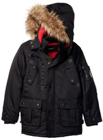 Diesel Faux Fur Trim Hooded Parka (Big Boys)