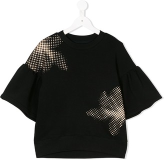 Ioana Ciolacu Kids Pixelated Floral Print Top