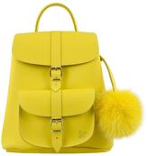 Grafea Women's Sunny Fur Pom Backpack Yellow