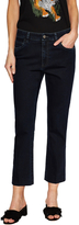 Prada Women's Low Rise Cropped Flare Jean