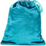Attico - velvet drawstring clutch - women - Silk/Viscose - One Size