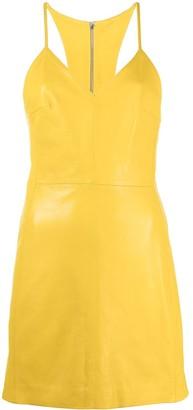 Manokhi Sleeveless Leather Short Dress
