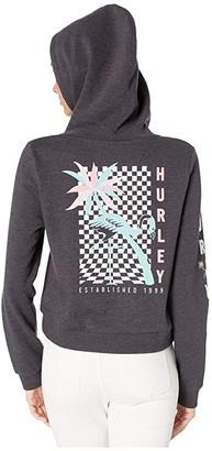 Hurley Mingo Perfect Fleece Crop Pullover (Oil Grey Heather) Women's Sweatshirt