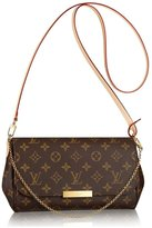 Louis Vuitton Authentic Favorite MM Canvas Cluth Bag Handbag Article: M40718 Made in France