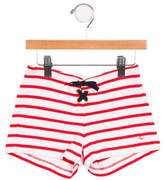 Petit Bateau Girls' Striped Lace Up Shorts