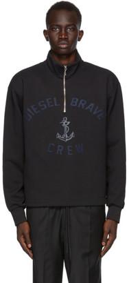 Diesel Black S-Frant Half-Zip Sweatshirt