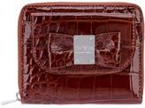 Sonia Rykiel Sonia By bow mock croc wallet