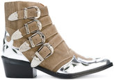 Toga Pulla leather-panelled ankle boots