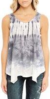 Poshsquare Womens Fashion Tie Dye High Low Loose Handkerchief Tank Tee Top USA GY M