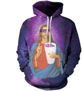 Jiayiqi Men's Rainbow 3D Print Pocket Hoodies Sweatshirts XXL