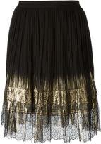 Alberta Ferretti lace pleated skirt