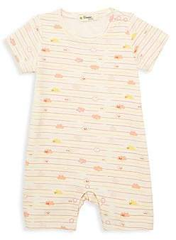 The Bonnie Mob Baby Girl's Lazy Hazy Summer Days Cloudy Stripe Knit Short Playsuit