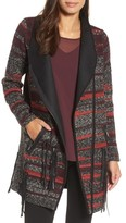 Nic+Zoe Women's Nic + Zoe Visionary Faux Leather Trim Jacket