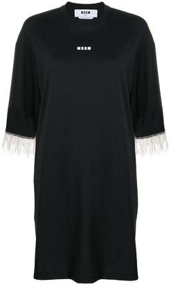 MSGM crystal fringe T-shirt dress
