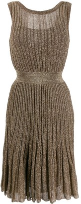 Missoni Metallic Pleated Dress
