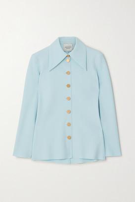 A.W.A.K.E. Mode Crepe Shirt - Light blue