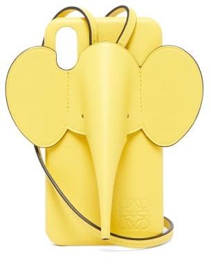 Loewe Elephant Leather Iphone X & Xs Case - Womens - Yellow