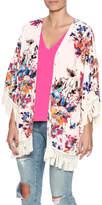 Umgee USA Floral Fringe Kimono