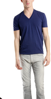 Simon Spurr Spurr by V Neck T-Shirt in Navy