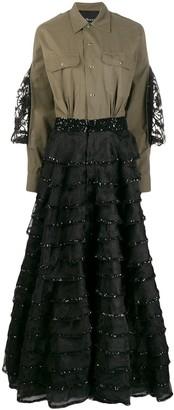 John Richmond Gueigne combined long dress