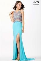 Jovani Sequined Long Dress with Slit JVN33391