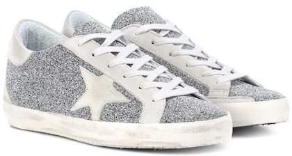 Golden Goose Superstar crystal-studded sneakers