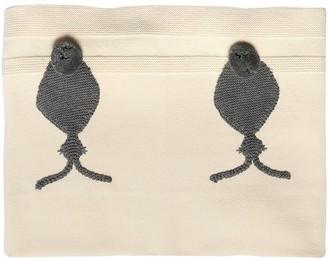 Stella Mccartney Kids Bunnies Cotton & Wool Knit Blanket
