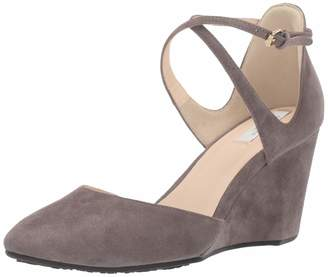 Cole Haan Women's Lacey Wedge Ankle Strap 75MM Pump Grey 7 B US