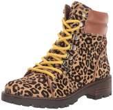 Sam Edelman Womens Tamia New Nude/Whiskey Baby Leopard Brahma Hair/Bally Premium Leather 7.5 M