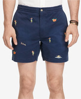 "Polo Ralph Lauren Men's 6"" Classic-Fit Drawstring Embroidered Shorts"