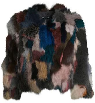 Jocelyn Savage Love Multicolor Fox Fur Sectioned Bolero