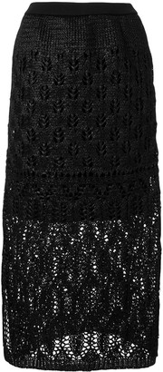 Coohem Straight Lacy Knit Skirt