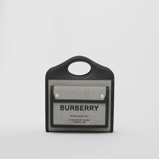 Burberry Mini Tri-tone Canvas and Leather Pocket Bag
