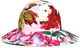 Dolce & Gabbana Floral cotton hat
