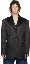 Acne Studios Black Shiny Satin Blazer