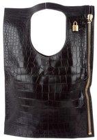 Tom Ford Alix Alligator Fold-Over Bag