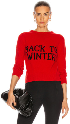 Alberta Ferretti Back To Winter Sweater in Red | FWRD