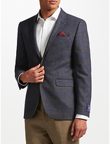 John Lewis Multicheck Tailored Jacket, Navy