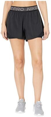 Nike Flex 2-in-1 Shorts Woven Essential (Black/Black/Thunder Grey) Women's Shorts